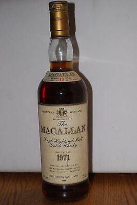 Macallan 1971 ( Spécial Sélection) - 18 years Old Sherry Wood - mise 1989