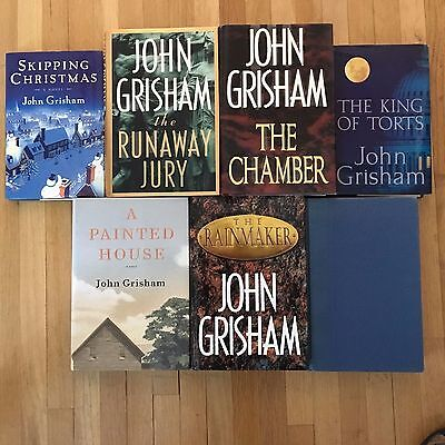 Lot of 7 John Grisham - Hardcover Books - Good to Very Good