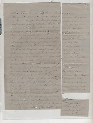 Letter- Father writes to his soldier son-Queen City, Iowa 1865- boys to Denver
