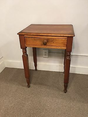 Antique American 19th C 1 Drawer Cherry Stand