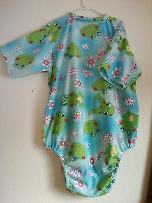ABDL Adult Baby Onsie Romper *CUSTOM made for you* Green Frogs m L xl 2xl 3xl