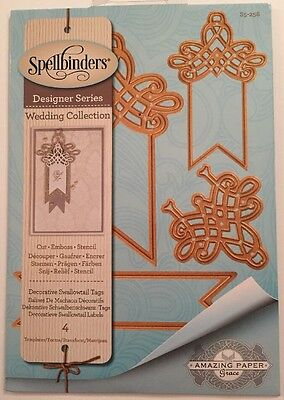 Spellbinders Designer Series Wedding Collection Decorative Swallowtail Tags