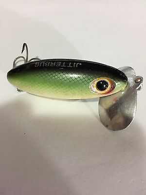 Vintage Old Fred Arbogast 3 Inch Green Jitterbug Lure