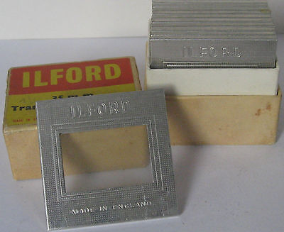 One Dozen Vintage Ilford 35mm Transparency Holders, Metal/Glass