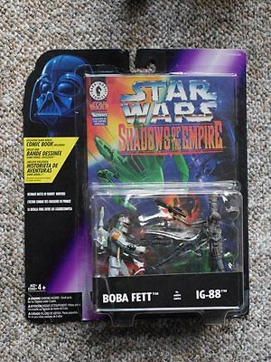 Star Wars Shadow of the Empire Boba Fett vs IG88 with Comic Book