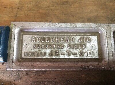 Do-It Roundhead Jig Mold JR-7-A Assorted Sizes Lead Jig Head Sinkers USED