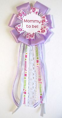 Handmade Girls Pink Princess Lace Mommy to be corsage Ribbons Baby Shower
