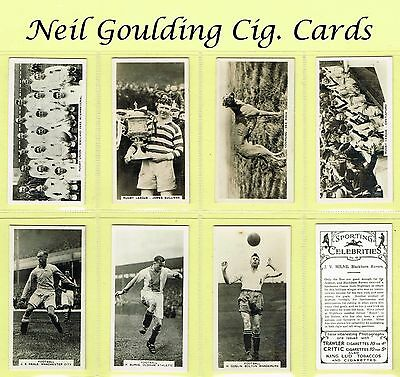 Pattreiouex - Sporting Celebrities 1935 #1 to #54 Football/Rugby Cigarette Cards