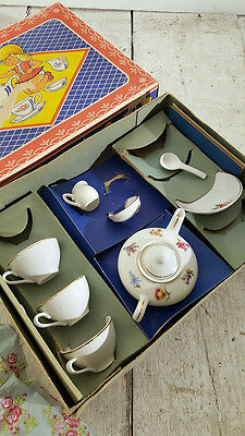 Childs 1960s Boxed China Dolly Toy Tea Set.