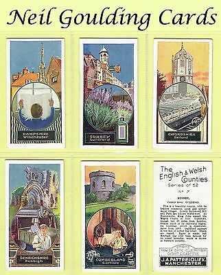 Pattreiouex - The English & Welsh Counties 1928 #1 to #52 Cigarette Cards