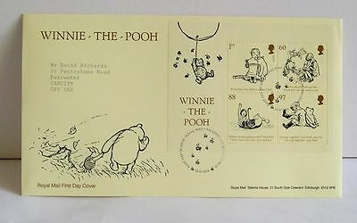 Winnie The Pooh Royal Mail First Day Cover 2010 with 4 Stamp Miniature Sheet