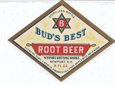1920's Bud's Best Root Beer Label