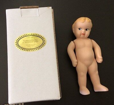 """SHACKMAN Jointed Porcelain Bisque Doll 5 """"Hand Painted  1998  MIB"""