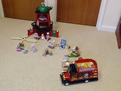 Sylvanian Families Bundle, With Windmill And Bus