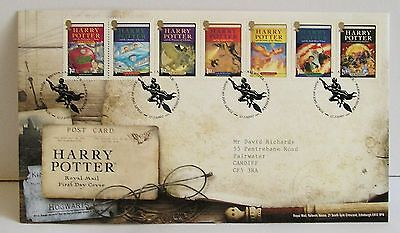 Harry Potter Royal Mail First Day Cover 2007 with 7 Stamps on Envelope