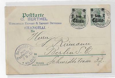 Covers cards Germany China Shangai 1906