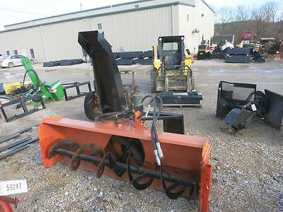 "84"" Snow Blower For Skid Steer Loader, Quick Attach, Electric Powered Adj. Chute"