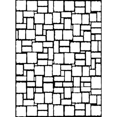 "Embossing Folder Embossing Essentials BRICK WALL  Folder 4.25"" by 5.75"" Darice"