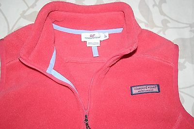 VINEYARD VINES Girls (L-12/14) Zip Front Fleece Vest Jacket ~ Jetty Red