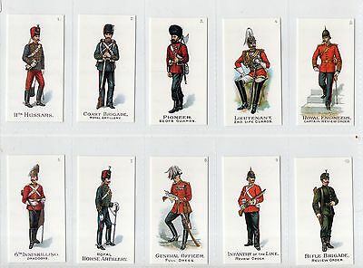 Gallaher Ltd Types Of The British Army No's 1 - 50 1900 Full Set (1995 Reprint)