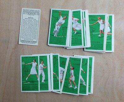 John Player & Sons Tennis 1936 Part Set 49 Of 50 Cards (Number 21 Missing)