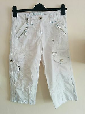 New Look Girls White Cropped Trousers Age 12