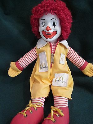 Vintage 1984 Ronald McDonald Doll ~ Fast Food Advertising ~ Chracter Doll