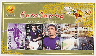 Gambia - Soccer, Euro Cup, Football, 2004 - Sc 2828 Sheetlet of 4 MNH