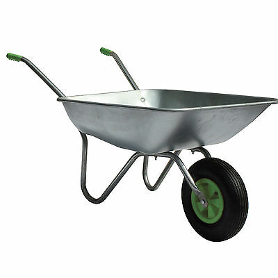 New 65L Wheelbarrow Home Garden Cart with Galvanised Pneumatic Tyre