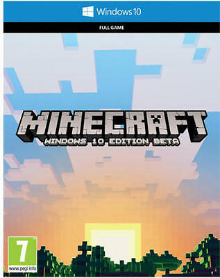 Minecraft: Windows 10 PC Edition Full Game Digital Download Code
