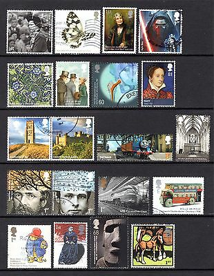 GB VERY MODERN COMMEMORATIVES GOOD TO FINE USED VALUES TO £1.28 + 1st CLASS