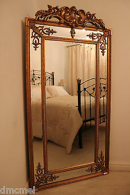 LARGE Antique Style Gilt Wall Mirror