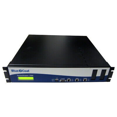 Blue Coat PacketShaper 7500 1U Rack 2x RJ-45 GBit 2x 128 MB CF No HDD No System