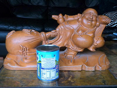 Large  Buddha wooden carving Chinese**Stunning**and heavy