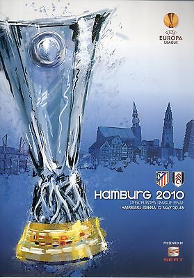 ATLETICO MADRID v FULHAM UEFA CUP FINAL PROGRAMME 12 MAY 2010