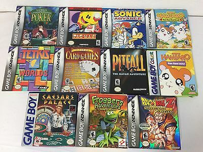 Nintendo Empty Gameboy Advance Video Game BOXES ONLY Lot 11 Manuals Inserts GBA