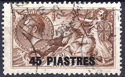 British Levant 1921 issue, SG 48ba, 45 Piastres, Joined Figures, used, CV £95