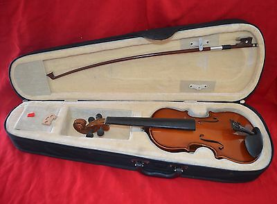 """Pre Owned Aria 1851 Violin 1/4 Size 18"""" W/case & Bow Model Ar001"""