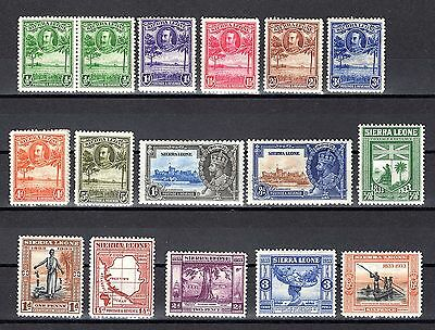 Sierra Leone Kgv 1932 To 1935 Mounted Mint Range With Couple Small Faults Cat 47