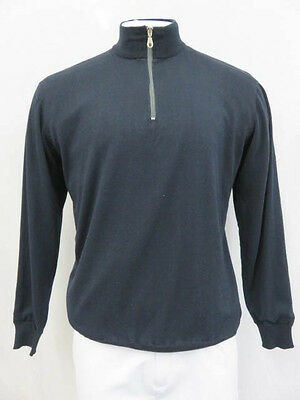 Men's Navy Golf Long Sleeve Top Lined Sweater Size XL EZ229