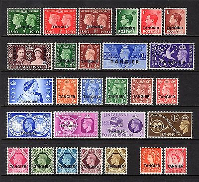 Tangier Edv11 To Qe11 Very Fine Lightly Mounted Mint Range + Couple Mnh Cat £43