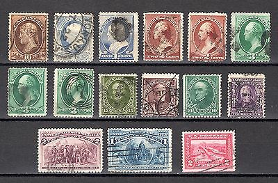 USA EARLY RANGE x 15 STAMPS GOOD TO FINE USED NOT CAT OR CHECKED BY ME
