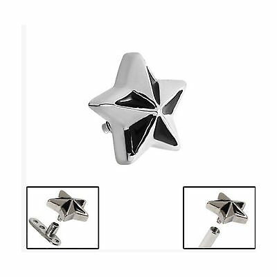 SURGICAL STEEL Nautical Star Dermal Anchor Attachment - FREE UK Delivery!