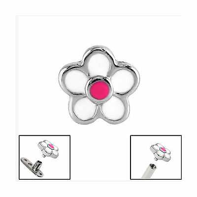 SURGICAL STEEL Daisy Flower Dermal Anchor Attachment - FREE UK Delivery!