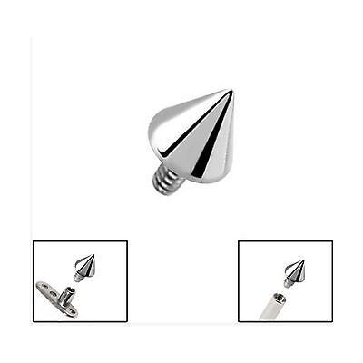 TITANIUM Cone for 1.6mm Internal Thread Jewellery - FREE UK Delivery!