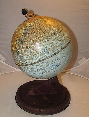Stunning Vintage Chad Valley Desk Globe / Original And Untouched Condition