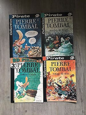 Lot de 4 BD Pierre Tombal - Collection Pirate