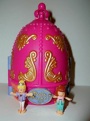 Vintage Polly Pocket 1996 Sparkle Ballerina & 2 Original Figures 100% Complete
