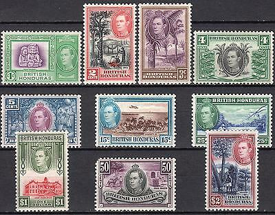 British Honduras 1938 short part set between SG 150 & 160, Mint Hinged, Cat £150