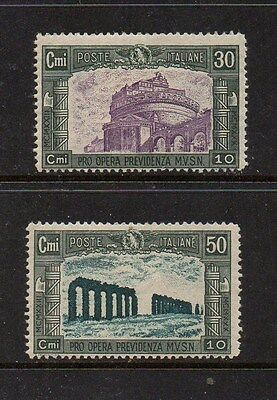 Italy 1928 Second National Defence Issue - Sg 219-220 Mint High Cat Value £16